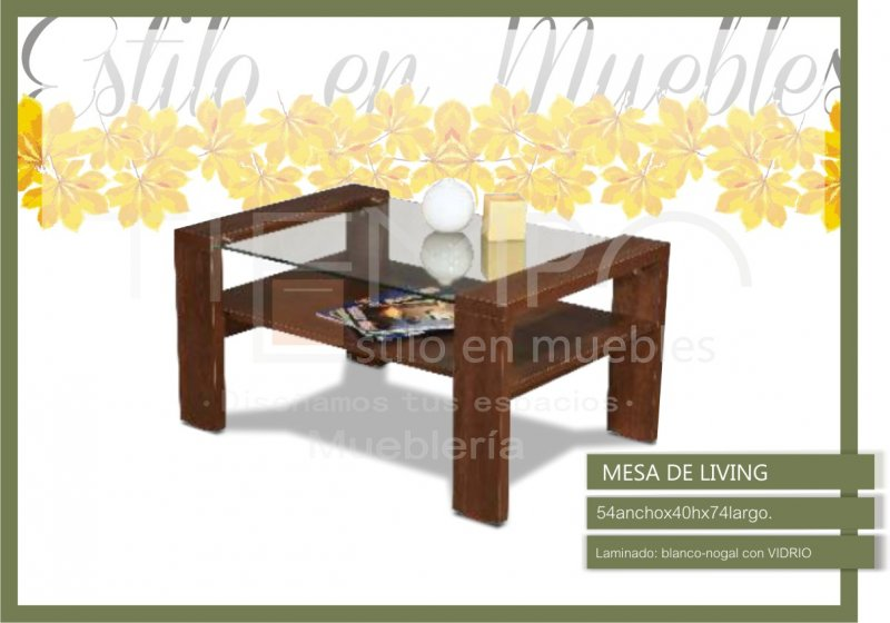 Mesa de living con vidrio for Mesas de living